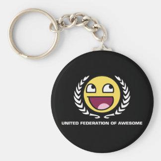 Federación unida de impresionante llaveros personalizados