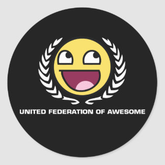 Federación unida de impresionante pegatina redonda
