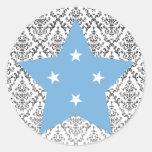 Federado+Estados+de+Estrella de Micronesia Pegatinas Redondas