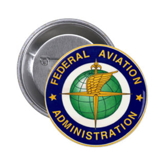 FEDERAL AVIATION ADMINISTRATION FAA 2 INCH ROUND BUTTON