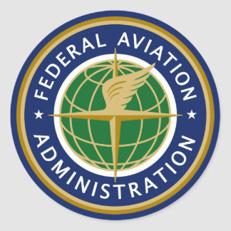 Federal Aviation Administration FAA Classic Round Sticker