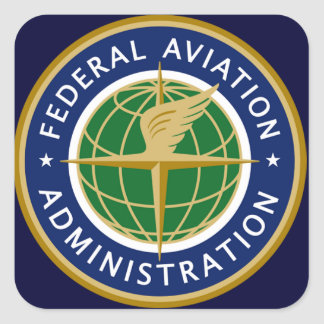 federal aviation administration FAA Square Sticker