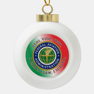 Federal Aviation Administration Ceramic Ball Christmas Ornament