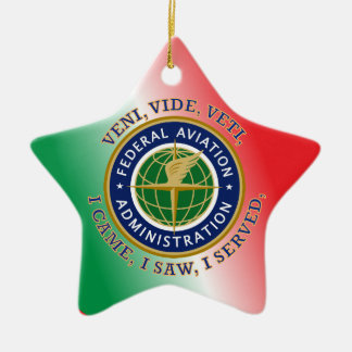 Federal Aviation Administration Double-Sided Star Ceramic Christmas Ornament