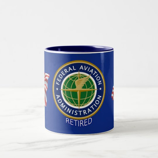 Federal Aviation Administration Retired Two-Tone Coffee Mug