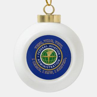 Federal Aviation Administration Shield Ceramic Ball Christmas Ornament