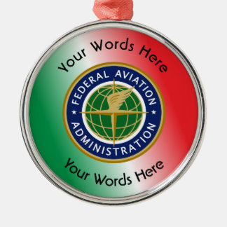Federal Aviation Administration Shield Round Metal Christmas Ornament
