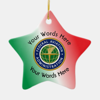 Federal Aviation Administration Shield Double-Sided Star Ceramic Christmas Ornament