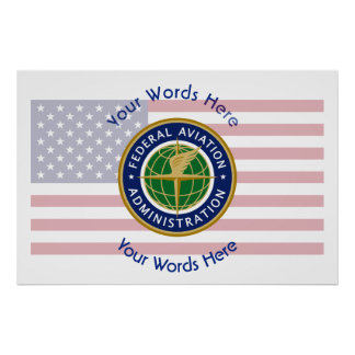 Federal Aviation Administration Shield Poster
