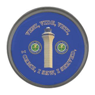Federal Aviation Administration VVV Shield Gunmetal Finish Lapel Pin