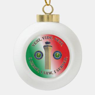 Federal Aviation Administration VVV Shield Ceramic Ball Christmas Ornament
