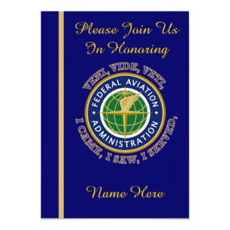 Federal Aviation Agency VVV Retirement Invitation