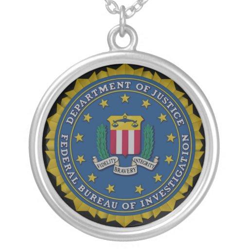 federal bureau of investigation fbi necklace zazzle