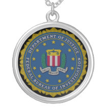 Federal Bureau of Investigation (FBI) Silver Plated Necklace