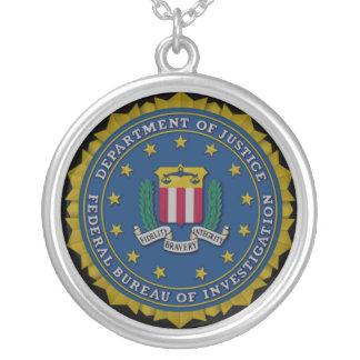 Federal Bureau of Investigation (FBI) Silver Plated Necklace