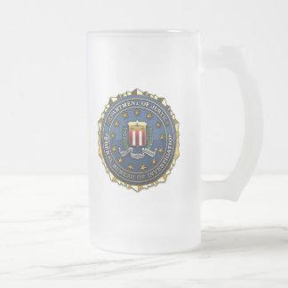 Federal Bureau of Investigation Frosted Glass Beer Mug