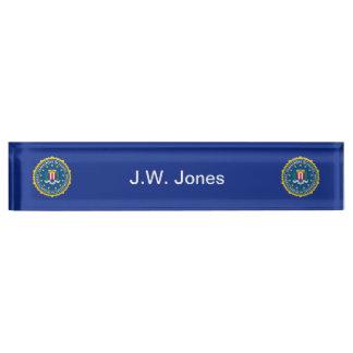 Federal Bureau of Investigation Nameplate