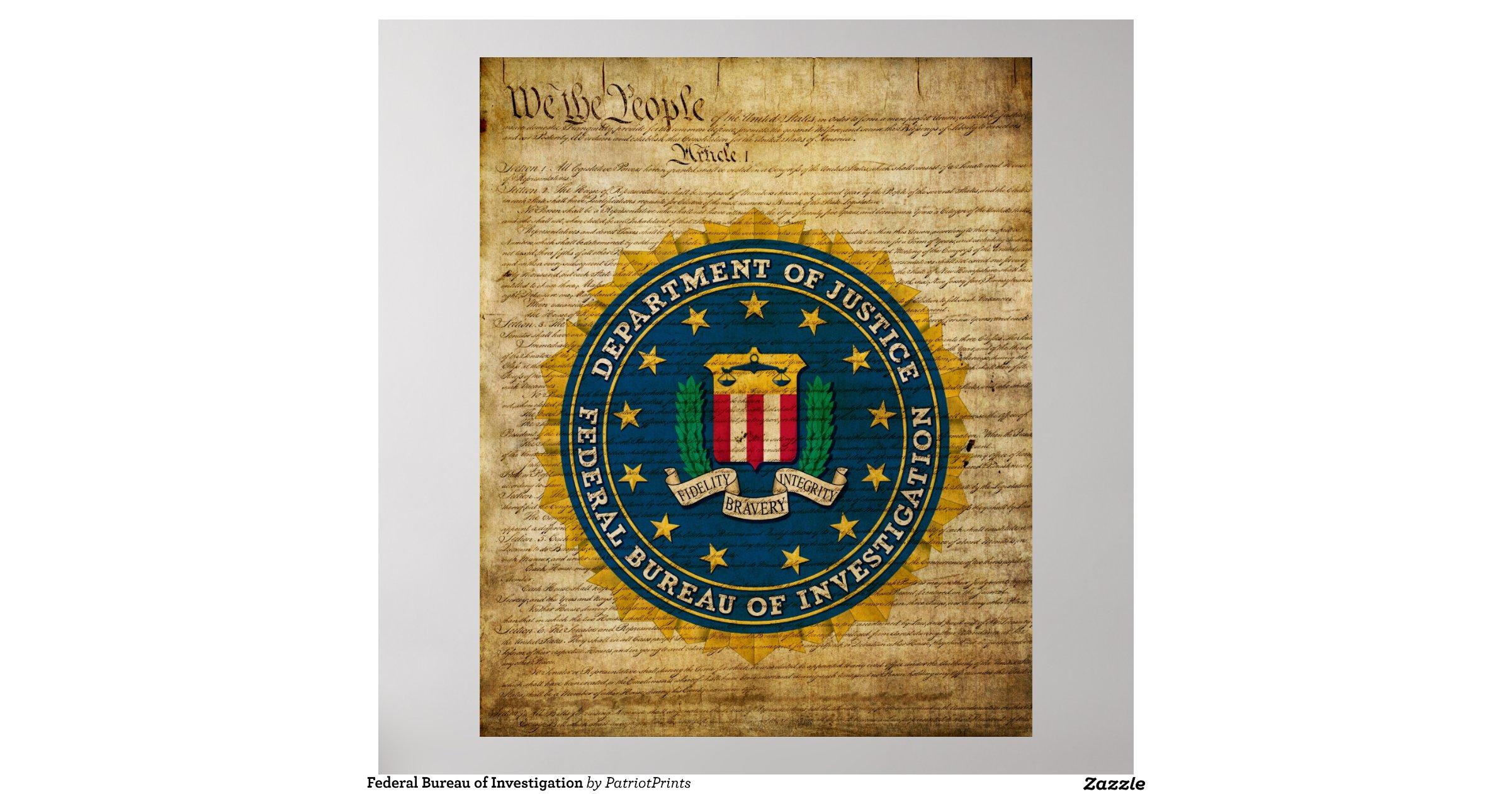 Federal bureau of investigation poster - California bureau of security and investigative services ...