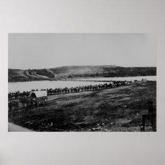 Federal Calvary Rappahannock River, VA 1862 Poster
