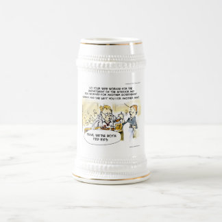 Federal Ex Spouse Funny Beer Stein