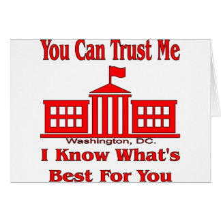Federal Government Says Trust Me Card