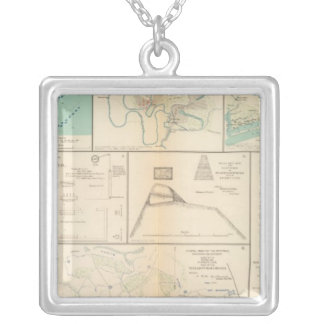 Federal Pt, NC Ft Pemberton Silver Plated Necklace