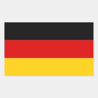 Federal Republic of Germany Tricolour Rectangular Sticker