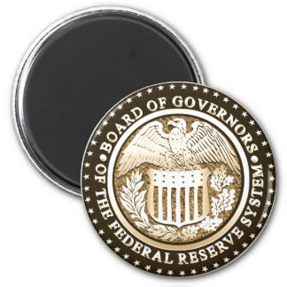 Federal Reserve 2 Inch Round Magnet