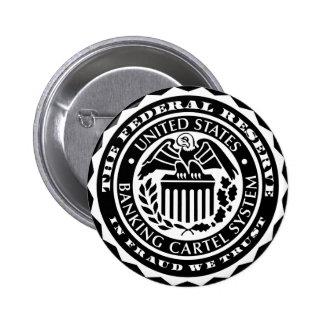 Federal Reserve abotona Pin Redondo De 2 Pulgadas