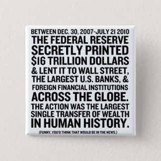 Federal Reserve Audit Pinback Button