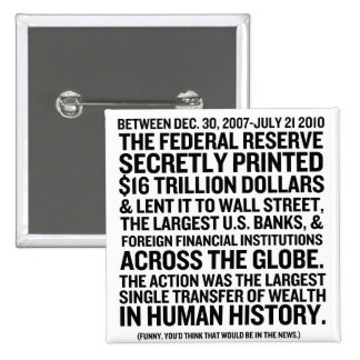 Federal Reserve Audit Pinback Button