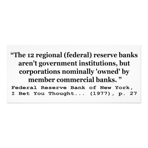 Federal Reserve Banks Aren't Government Personalized Invites