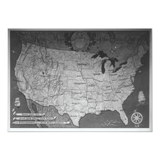 Federal Reserve Building Map Card