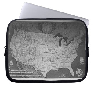 Federal Reserve Building Map Laptop Sleeve