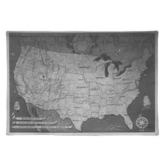 Federal Reserve Building Map Placemat
