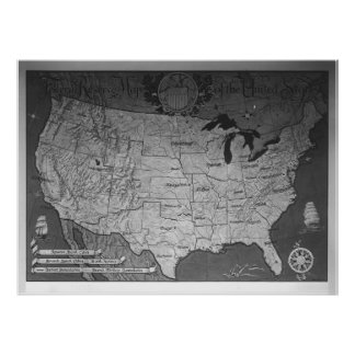 Federal Reserve Building Map Poster