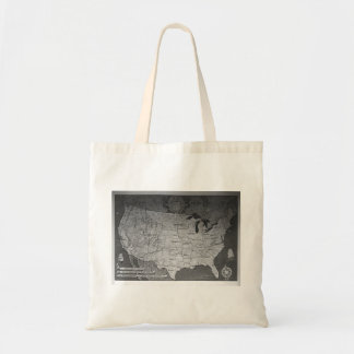 Federal Reserve Building Map Tote Bag