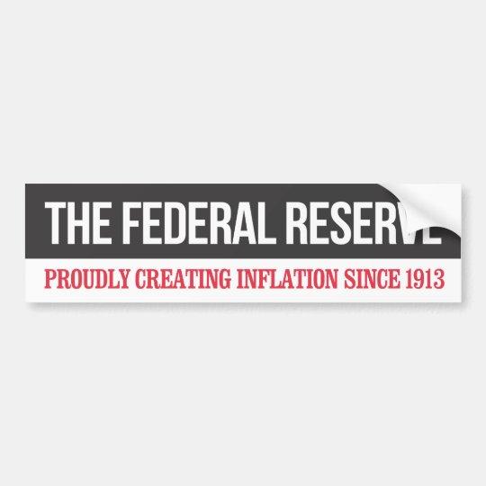 Federal Reserve Bumper Sticker