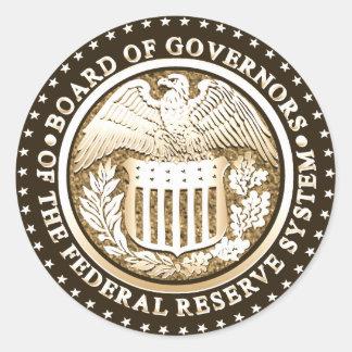 Federal Reserve Classic Round Sticker