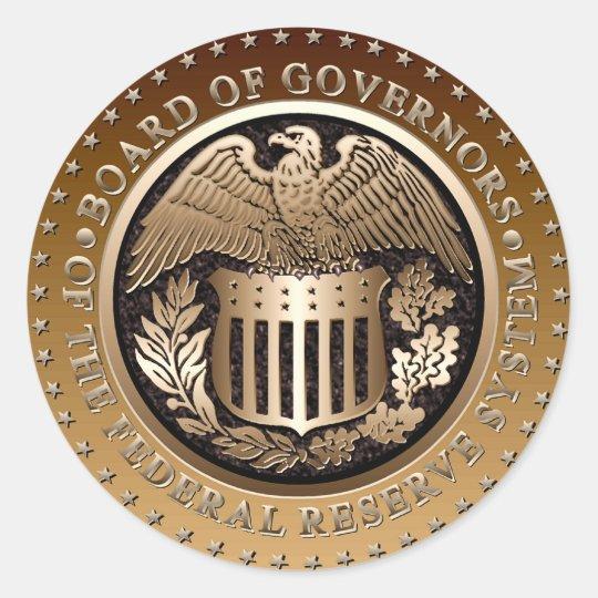 Federal Reserve Classic Round Sticker   Zazzle.com