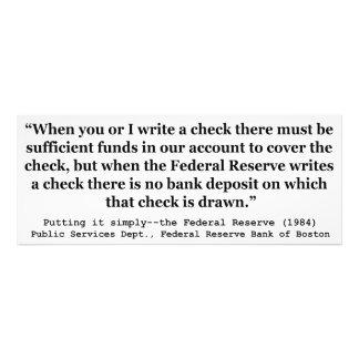 Federal Reserve crea el dinero que lo pone Cojinete