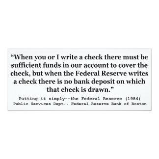Federal Reserve crea el dinero que lo pone Invitación