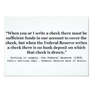 Federal Reserve crea el dinero que lo pone Invitacion Personalizada