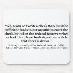 Federal Reserve crea el dinero que lo pone simplem Alfombrillas De Raton