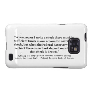 Federal Reserve Creates Money Putting It Simply Galaxy S2 Cases