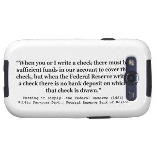 Federal Reserve Creates Money Putting It Simply Samsung Galaxy S3 Covers