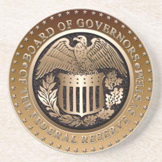 Federal Reserve Drink Coaster