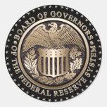 Federal Reserve Etiquetas Redondas