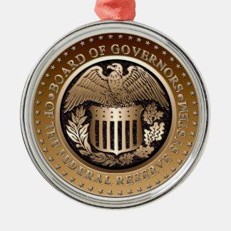 Federal Reserve Metal Ornament