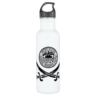 Federal Reserve Pirate Logo 24oz Water Bottle